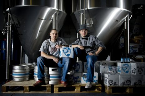 BREW DOG BREWERY IN FRASERBURGH, DIRECTOR AND HEAD BREWER MARTIN DICKIE AND MANAGING DIRECTOR JAMES WATT  PIC ROSS JOHNSTON / NEWSLINE SCOTLAND