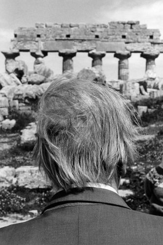 Sicily, Selinunte: the poet Jorge Luis Borges at the ruins of the temple (c) Ferdinando Scianna/Magnum Photos